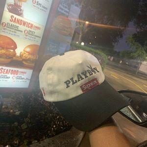 Playboy hat / supreme hat collab